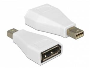 Delock adaptér Displayport mini samec > Displayport samice, bílý