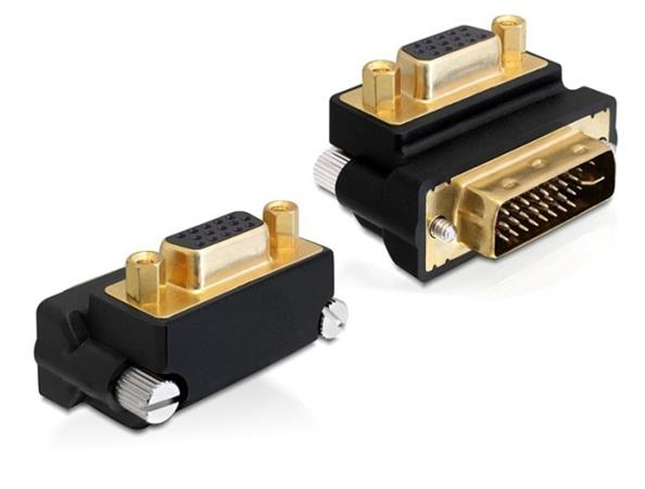 Delock Adaptér VGA samice > DVI 24+5 pin samec v úhlu 270°