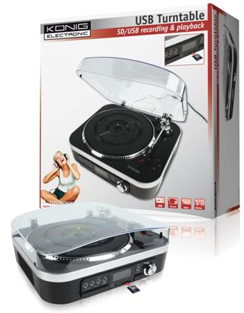 König HAV-TT25USB - USB gramofon, SD karty, rádio