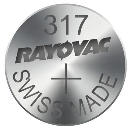 Rayovac 317 (SR516SW, 5.8 x 1.65 mm) - 10 ks, krabička