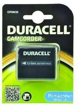 DURACELL Baterie - DR9608 pro Panasonic CGA-DU14A/1B, černá,1440 mAh, 7.4V