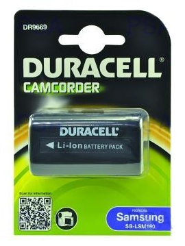 DURACELL Baterie - DR9669 pro Samsung SB-LSM160, černá, 1500 mAh, 7.4V