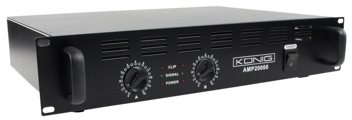 König PA-AMP10000-KN - PA zesilovač 2 x 500W