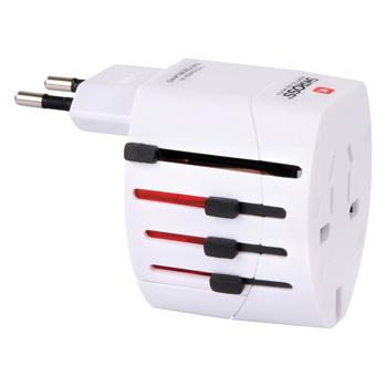Skross SKR1102100 - Cestovní adaptér World Adapter EVO, 2 póly, bílý, blistr