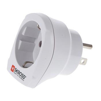 Skross SKR1500203 - Cestovní adaptér do sítě US - EU v blistru, bílý