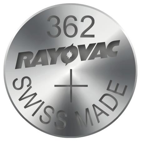 Rayovac 362 (SR721SW, 7.9 x 2.1 mm) - 10 ks, krabička