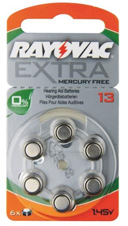 Rayovac H13MF (13A, 7.9 x 5.4 mm) - 6 ks, blistr