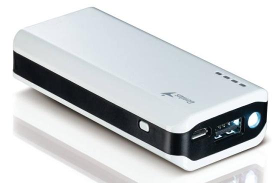 GENIUS napájecí zdroj Power Bank ECO-u622/ 6000mAH/ LED svítilna/ bílý
