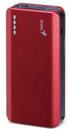 GENIUS napájecí zdroj Power Bank ECO-u622/ 6000mAH/ LED svítilna/ červený