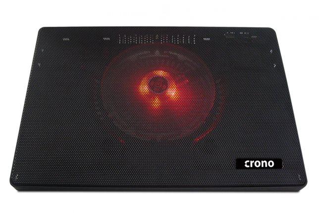 """Crono CB157 - aktivní chladící podložka notebook do 15.6"""", červené LED podsvícen"""