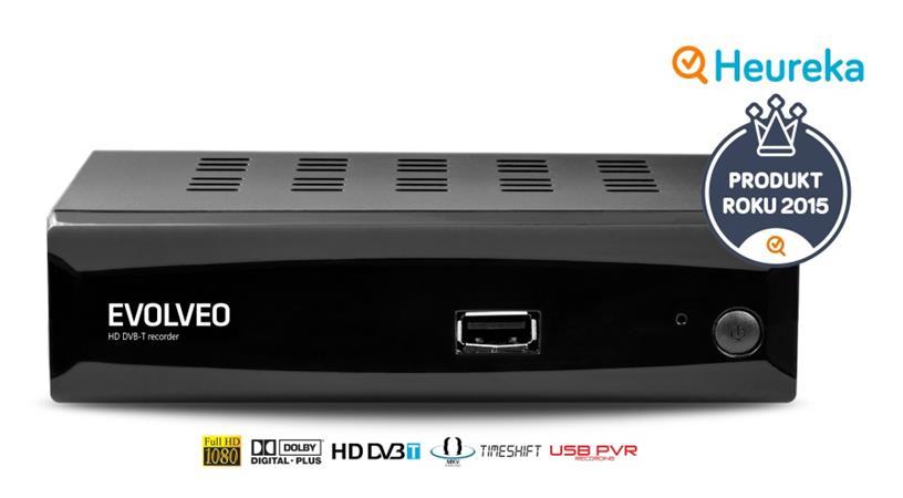 EVOLVEO Alpha HD, HD DVB-T multimediální rekordér, HDMI, Scart, USB, MKV/MOV/MPE