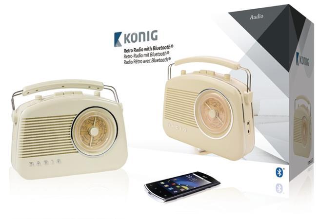 König HAV-TR800BE - Retro rádio sbezdrátovou technologií Bluetooth