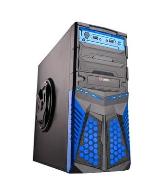 C-TECH PC herní skříň HADES (GC-01), miditower, černo-modrá