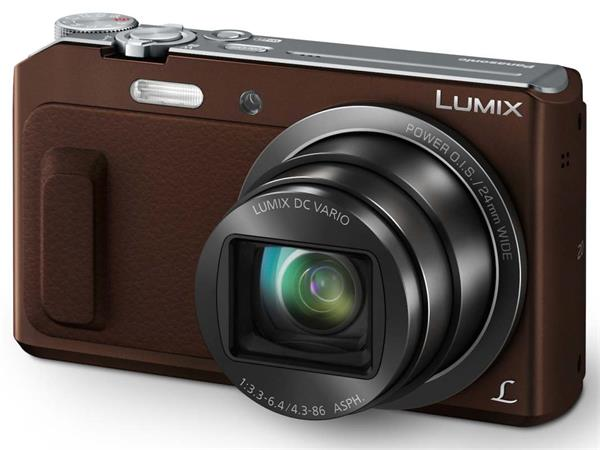 Panasonic DMC-TZ57EP-T, 16 Mpx MOS, 20x zoom 24mm POIS, Full HD, WiFi, hnědá