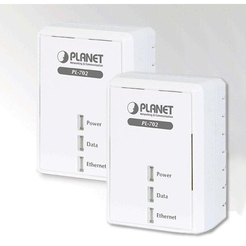 Planet PL-702-KIT 500MBPS, POWERLINE (DIRECT ATTACHED), 1X 100BASE-TX LAN, QOS,