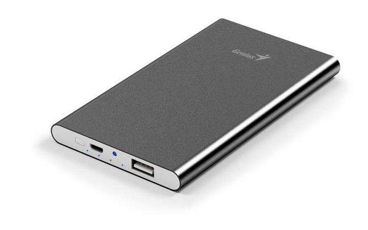 GENIUS napájecí zdroj Power Bank ECO-u540/ 5.400 mAH/ Apple design/ hliníkový/ š