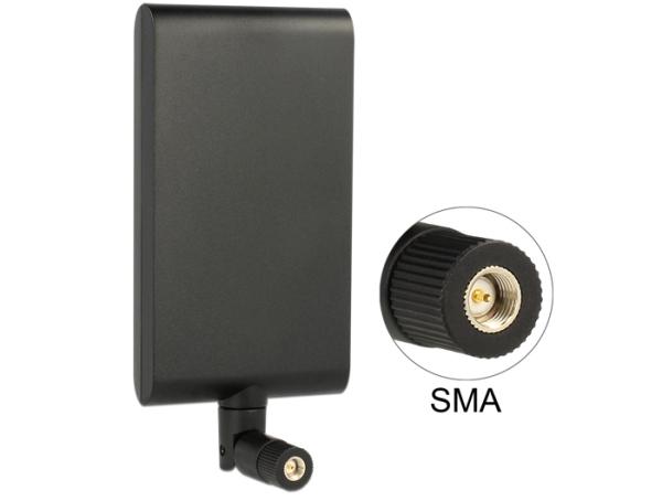 Delock LTE anténa SMA 1 ~ 4 dBi směrová otočná s flexibilním kloubem - černá