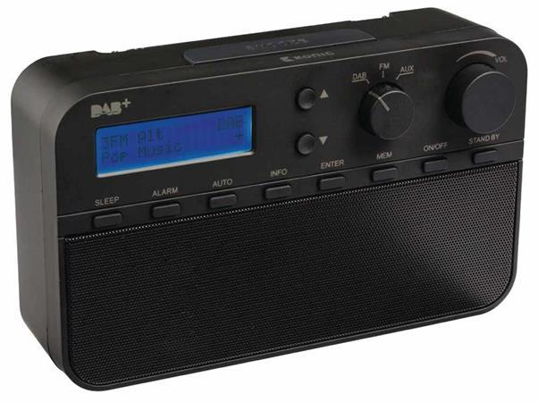 König HAV-DABR100BL - Rádio DAB+, 20předvoleb a budík, černé