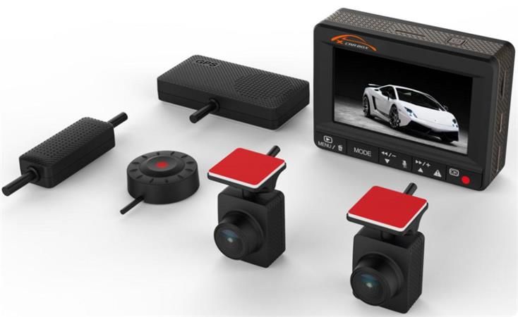 CEL-TEC K1S DUAL - duální palubní kamera do auta 2x Full HD, GPS, microSD/SDHC,