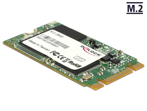 Delock M.2 NGFF SATA 6 Gb/s SSD 16 GB (S42) Micron MLC -40°C ~ +85°C