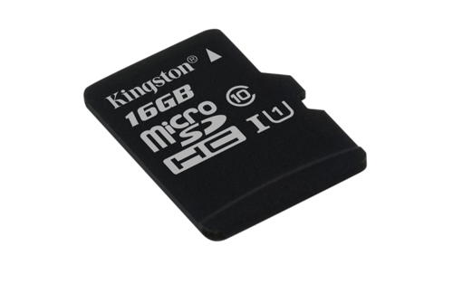 KINGSTON 16GB microSDHC Memory Card 45MB/10MBs- UHS-I class 10 Gen 2 - BEZ ADAPT