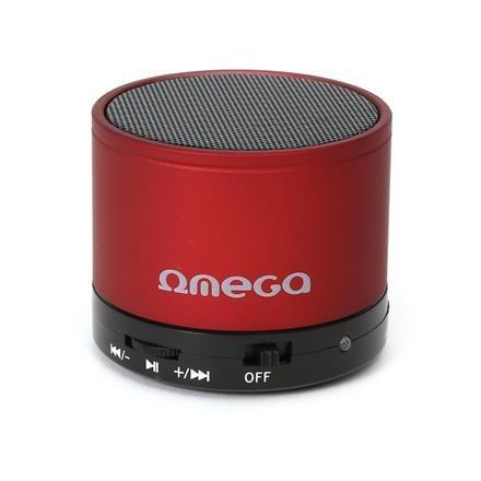 OMEGA bluetooth v 3.0 reproduktor červený