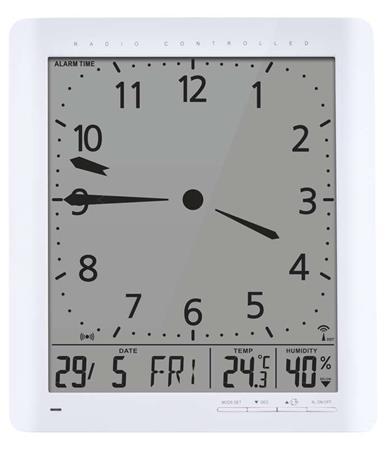 Emos nástěnné hodiny E9280, rádiem řízené, teploměr