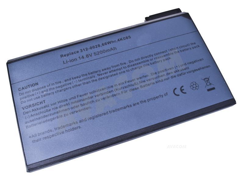 Náhradní baterie AVACOM Dell Latitude C, CP, CPi Li-Ion 14,8V 5200mAh