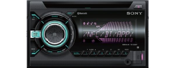 SONY WX-900BT - 2 DIN Bluetooth autorádio s CD/MP3 přehrávačem, výkon 4x55W, vst
