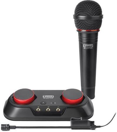 CREATIVE Sound Blaster R3, domácí nahrávací studio, USB, 2x mikrofon (externí zv