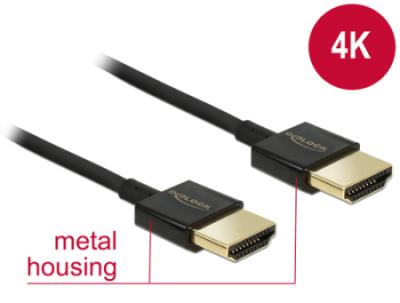 Delock Kabel High Speed HDMI s Ethernetem - HDMI-A samec > HDMI-A samec 3D 4K 0,