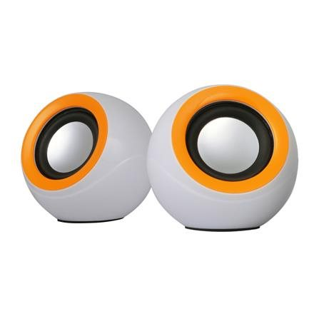 OMEGA reproduktory 2.0 OG-116B bílo/oranžová 2x3W RMS USB