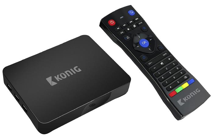 König KN-4KASB - 4K Smart TV Box se systémem Android, 4K, 3D, 5G, WiFi, FlyMouse
