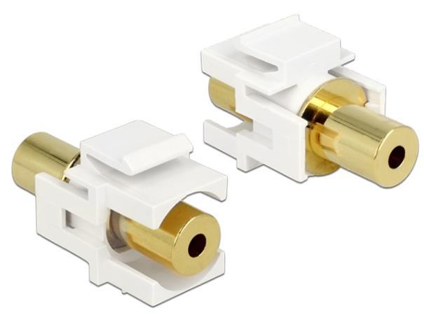 Delock Keystone Module stereo jack samice 3.5 mm 4 pin > stereo jack samice 3.5