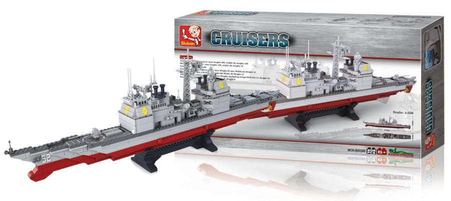 Sluban M38-B0389 - Aircraft Carrier Series - Cruiser