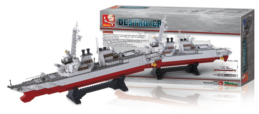 Sluban M38-B0390 - Aircraft Carrier Series - Destroyer