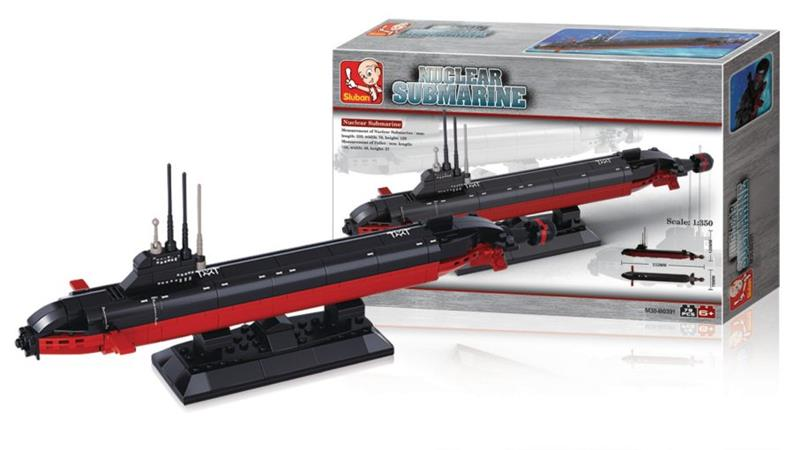 Sluban M38-B0391 - Aircraft Carrier Series - Nuclear Submarine