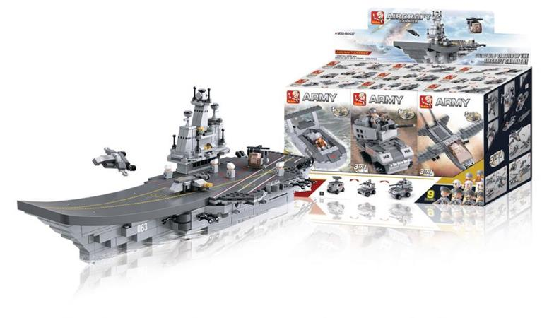 Sluban M38-B0537 - Aircraft Carrier Series - 9-in-1 Aircraft Carrier