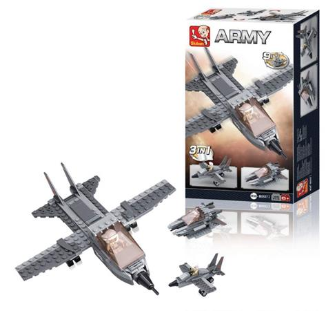 Sluban M38-B0537I - Aircraft Carrier Series - Fighter Jet 3-in-1