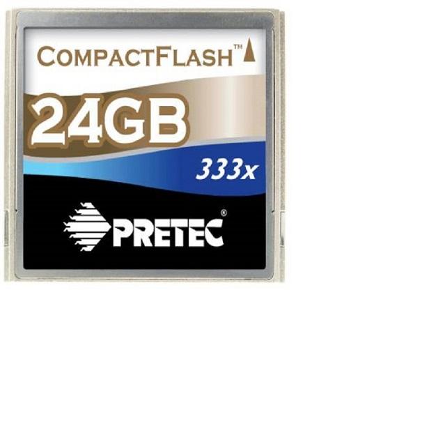 Pretec 24 GB CompactFlash 333x, kov, typ II
