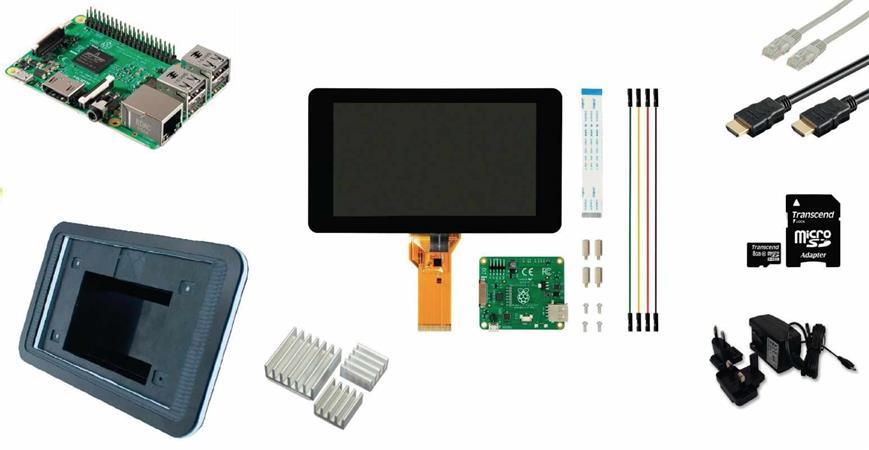Raspberry Pi 3 LCD Starter KIT + WiFi + Raspbian software