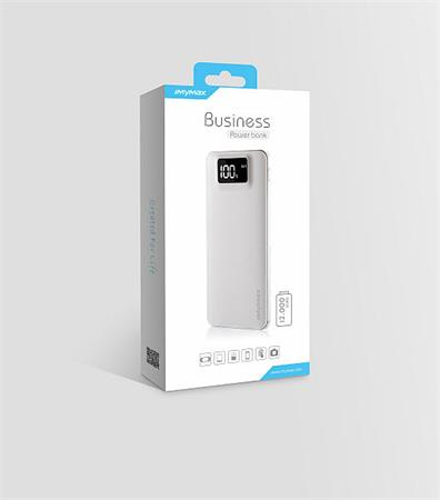 iMyMax Business Power Bank 12.000mAh, White