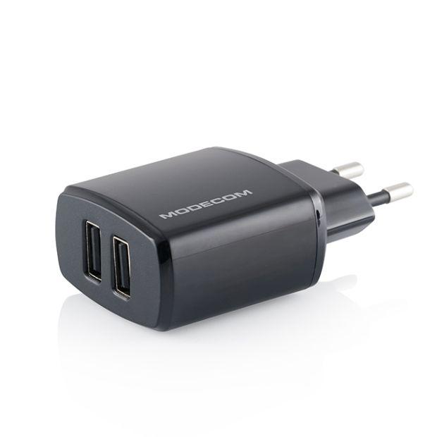 Modecom Royal MC-W5VU2-34 AC Adaptér pro tablety, Dual USB, 5VDC - 1xUSB 2.4A, 1