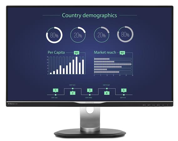 "Philips LCD 258B6QUEB 25""wide IPS/2560x1440/5ms/20mil:1/350cd/VGA/DVI/HDMI/DP/US"