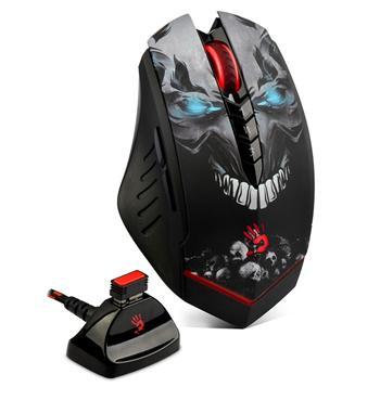 A4tech BLOODY R80A, bezdrátová herní myš, rozlišení až 3200DPI, černá, USB, CORE
