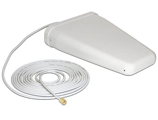 Delock LTE Band 20/1/3/7 Antenna SMA Plug 8 ~ 9 dBi 4.70 m RG-58 directional whi