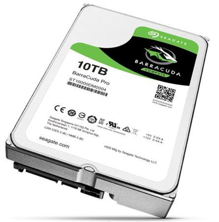 "Seagate BarraCuda PRO 3.5"" HDD, 10TB, 3.5"", SATAIII, 256MB cache, 7.200RPM"