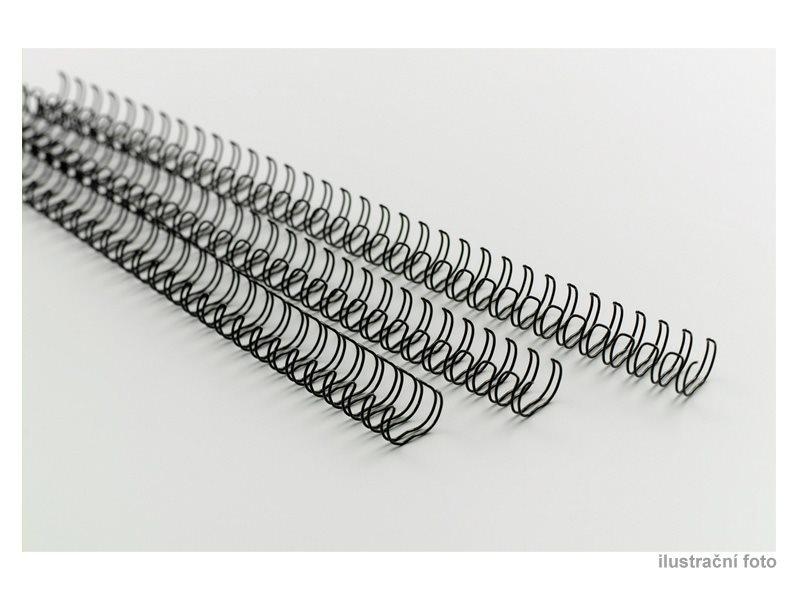 Drátěné hřbety GBC, 9/16, A4/100 ks, 10 mm, černé