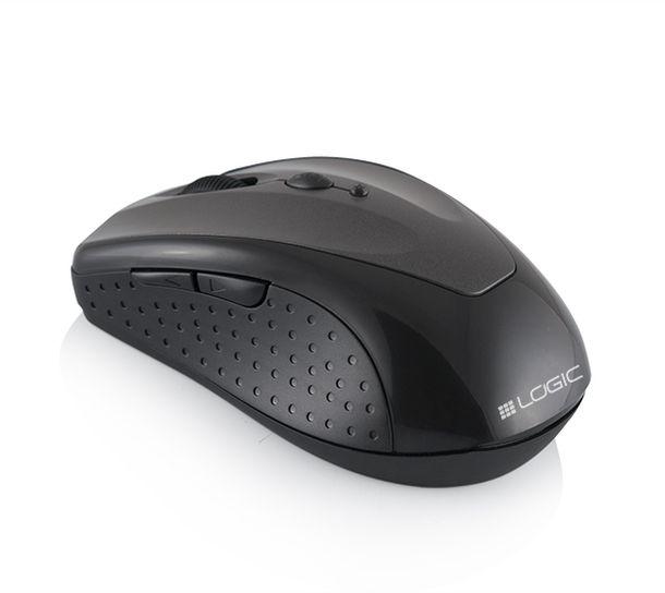 Modecom Logic LM-22 bezdrátová optická myš, 6 tlačítek, 1600 DPI, USB nano 2,4GH