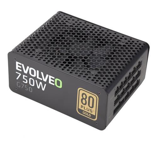 EVOLVEO G750 zdroj 750W, eff 91%, 80+ GOLD, aPFC, modulární, retail